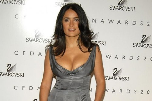 salma hayek breastfeeding