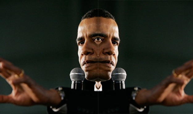 obama two face