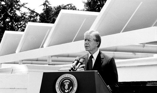 jimmy carter solar panels