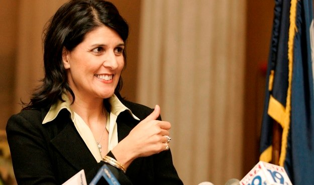 the sc tea party lobbies nikki haley