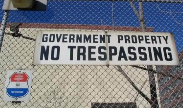 federal land no trespassing