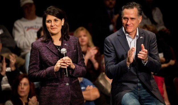 nikki haley mitt romney town hall