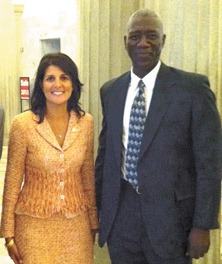 Nikki Haley and SCDEW director Abraham Turner.