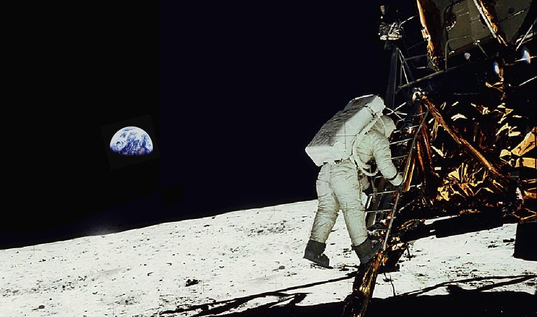 Image result for man on moon pictures