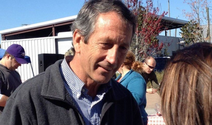 mark sanford campaigns in wrong district