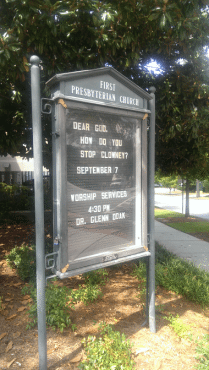 church sign clowney