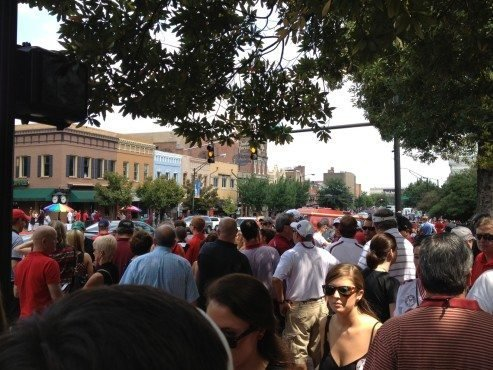 Downtown Athens ... ready to rumble.