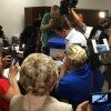 Media surrounds U.S. Senate candidate Thomas Ravenel (I-S.C.) as he submits his signatures to the S.C. Election Commission (SCEC).