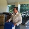 U.S. Senate candidate Thomas Ravenel (I-S.C.) carries a box containing some of the 17,000 signatures gathered on his behalf.